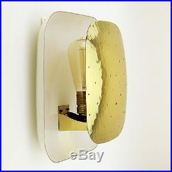 Golden Mid-Century Wall Light Lamp Sconce Design White Square Modern Vintage 50s