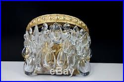 Great Pair Of Vintage Sconces Wall Lamps By Ernst E. Palme Crystal Beads 1960s