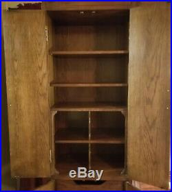 Henredon Scene One Campaign Style Bedroom Wall Unit Vintage