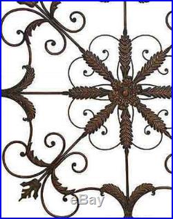 Home Decorators Metal Rustic Vintage Rust Iron Scrolled Room Wall Plaque Patio