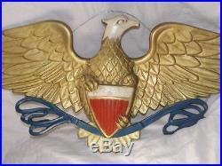 Huge VINTAGE EAGLE WALL Plaque 40 WINGSPAN RARE Americana WOW