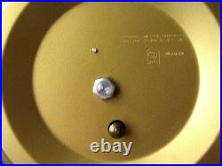 INGRAHAM Metal Starburst Wall Clock MID CENTURY Electric FAUX WOOD WORKS Star