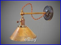 Industrial Lighting Vintage Brass Wall Sconce Steampunk Lamp Art Deco Light
