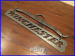 Iron Metal Smith Wesson Gun Sign wall art plaque hunter cabin rustic vintage