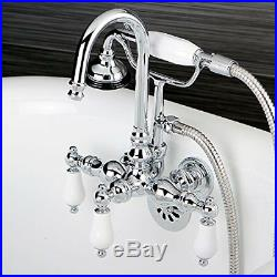 KNGB-CC12T1-Kingston Brass Vintage 3-3/8 Wall Mount Clawfoot Tub Filler with H
