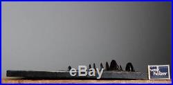LARGE 13''Vintage 60-70's RUSCHA 3D MUSCHROOM Wall Plaque W. German Fat Lava Era