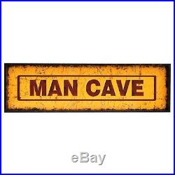 Large 48 Rustic Man Cave Plaque With Lights Wall Sign Vintage Style Game Room