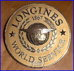 LONGINES Vintage Wall Display Plaque Conquest Moonphase Diver Chronograph 1960's
