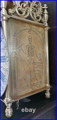 Lantern Wall Clock Hermle English Style Separate Wooden Mount Pendulum