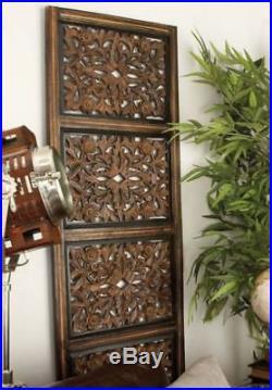 Large Rustic Wood Wall 5 Panel Plaque Home Decor Vintage Living Rm Sculpture