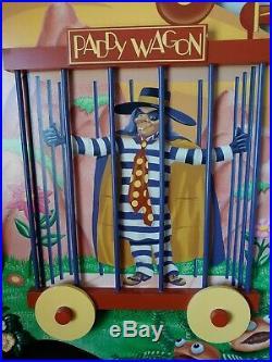 Large Vintage McDonald's Hamburgler In The Paddy Wagon Mcdonaldland Wall Plaque