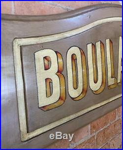 Large Vintage Painted Wooden Sign Boulangerie French Bakery
