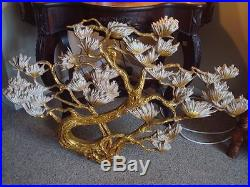 LargeVintage1972SYROCOHollywood RegencyFloral TreeWall PlaqueArt45 X 29
