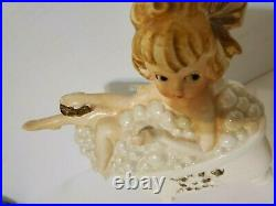 Lefton Girl In Bathtub With Bubbles Wall Plaque Blonde Vintage RARE