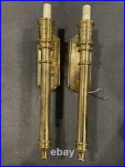 Lot OF 2 Vintage 1977 Chapman 19 Inches Mid Century Wall Sconces- No Shades