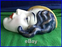 Lovely Very Rare Vintage Art Deco Beswick Face Wall Mask Plaque No 197 RD8674