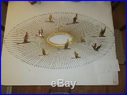 MCM C. Jere Sunburst'Birds in Flight' Vintage Brass Wall Sculpture