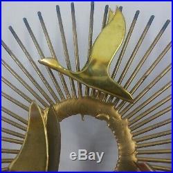 MCM Sunburst Birds in Flight C Jere 10 1/4 Vintage unsigned Wall Art Sculpture