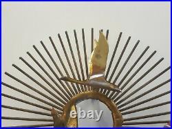 MCM Sunburst Birds in Flight Curtis Jere 10 1/4 Vintage Wall Art Sculpture