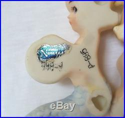 Mermaid Wall Plaque Boy Girl Bisque Porcelain Figurine Norcrest Japan Lot Vtg