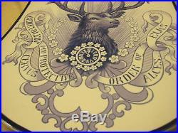 Mettlach Villeroy & Boch BPOE Elks Wall Plaque VINTAGE