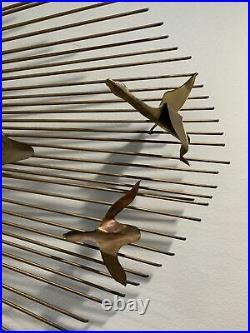 Mid-Century Modern Jere Style Brutalist Geese Sunburst Wall sculpture Vintage