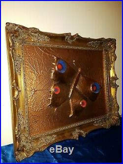 Mid Century Wandbild Wandrelief Kupfer Butterfly Vintage 50s copper wall plaque