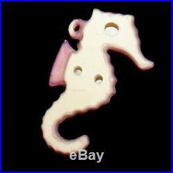 Mint Vintage Ceramic LEFTON SEAHORSE WALL PLAQUE Hanging for Mermaid & Fish