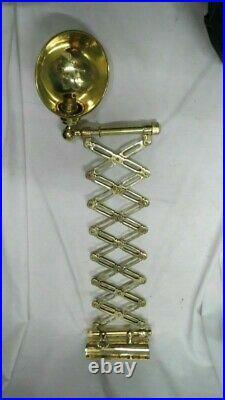 New Antique Vintage Flattery Nautical Marine Ship Scissor Brass Wall Lamp 1 Pcs
