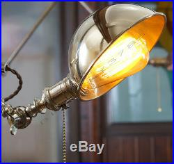 O. C. White Vintage Style Brass Wall Shade Lamp Articulating Wall Mount Lamp