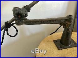 OC White Light Vintage Industrial Rare 33 Brass Arm Wall Desk Lamp