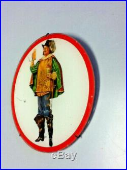 Old style beer sign vintage wall plaque reverse painted glass ROG Grenadier guy
