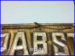Pabst beer sign chalkware wall plaque 3-d chalk bar display vintage Milwaukee