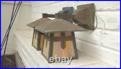 Pair Arts & Crafts Exterior Wall Lanterns Brass Light Gallery -Vintage lamps