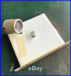 Pair VINTAGE 1950s ART-DECO /MCM MINIMALIST BRASS PLATED WALL SCONCES