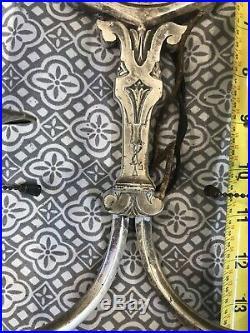Pair Vintage Antique Cast Brass Electric Wall Sconces E20