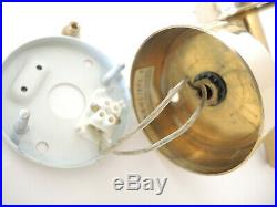 Pair Vintage Brass Wall Lights Hans Agne Jakobsson Markaryd Sweden V-169