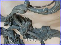 Pair of Antique Vintage Brass Sconces applique. Wall lamps