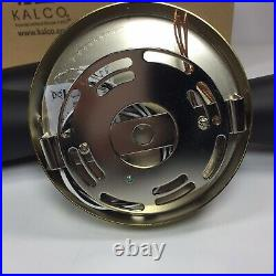 Pair of Milo Wall Sconce Light Fixtures Kalco 310422WVB LED Black Vintage Brass