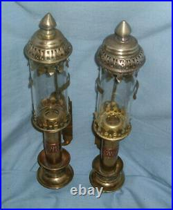 Pair of Vintage Brass Wall Mounted GWR Carriage Lamps Lot 2
