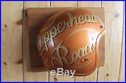 Personalised Motorcycle Helmet Vintage Wall Sign Plaque Man Cave Hotrod Biker