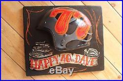Personalised Motorcycle Helmet Vintage Wall Sign Plaque Tattoo Barber Hotrod