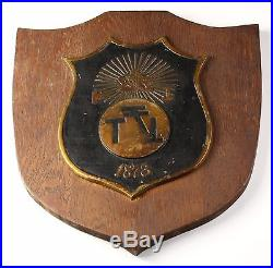 Phi Sigma Kappa Fraternity Plaque 14.5 Tall Wooden Wall Mount Vintage PSK
