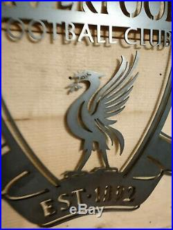 Premium Liverpool FC Metal Wall Sign Handmade Football league Man Cave Large