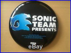 RARE 12 Vintage SONIC THE HEDGEHOG metal round wall plaque prize disc Sega