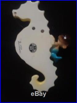 RARE Holt Howard Vintage Moby Mermaid on Seahorse Wall Plaque Pocket Ceramic