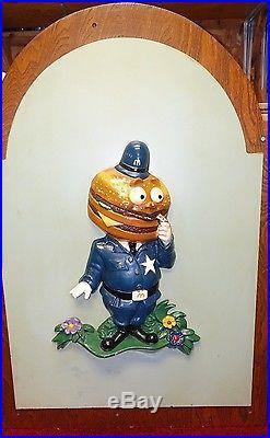 - RARE MCDONALDLAND Vintage Hamburglar & Officer Big Mac 3D Wall Plaques-