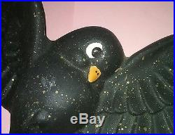RARE Vintage Freeman McFarlin Blackbird Birds Wall Hanging Plaques 1950s withGold