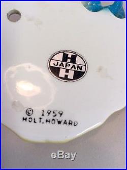 RARE Vintage Holt Howard Pixie Mermaid Merboy Seahorse Wall Plaque Pocket PAIR