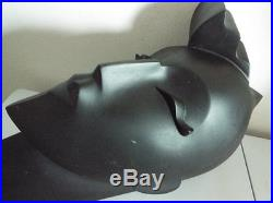 RARE Vintage Mannequin Head SIGNED BY LINDSEY B Black 80's wall Plaque Cubist